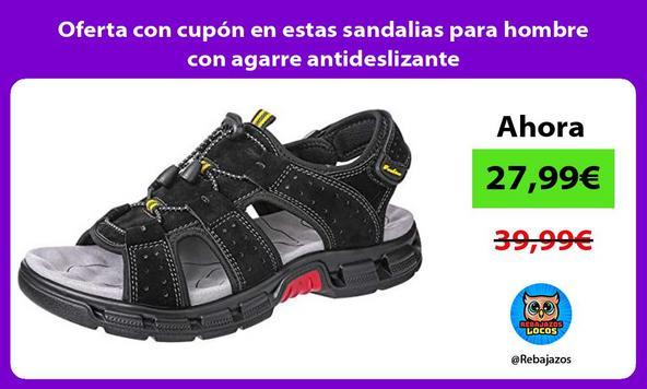 Oferta con cupón en estas sandalias para hombre con agarre antideslizante