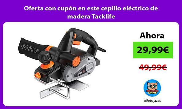 Oferta con cupón en este cepillo eléctrico de madera Tacklife