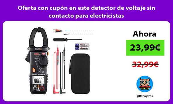 Oferta con cupón en este detector de voltaje sin contacto para electricistas