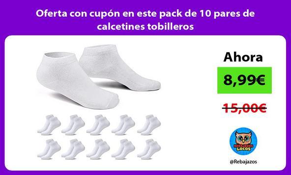 Oferta con cupón en este pack de 10 pares de calcetines tobilleros