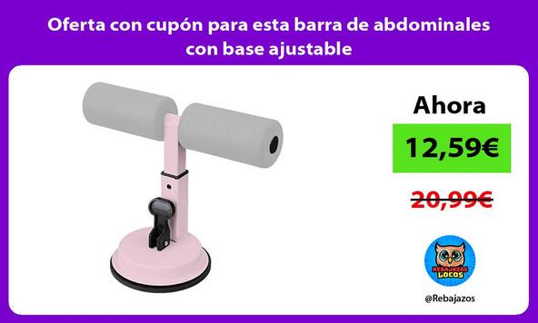 Oferta con cupón para esta barra de abdominales con base ajustable