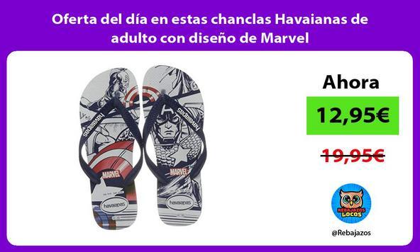 Oferta del día en estas chanclas Havaianas de adulto con diseño de Marvel