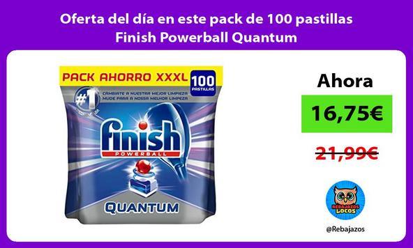 Oferta del día en este pack de 100 pastillas Finish Powerball Quantum
