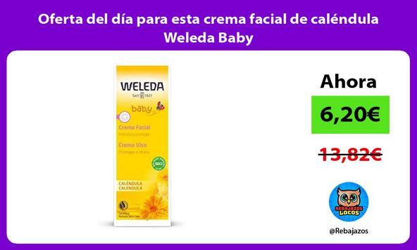 Oferta del día para esta crema facial de caléndula Weleda Baby