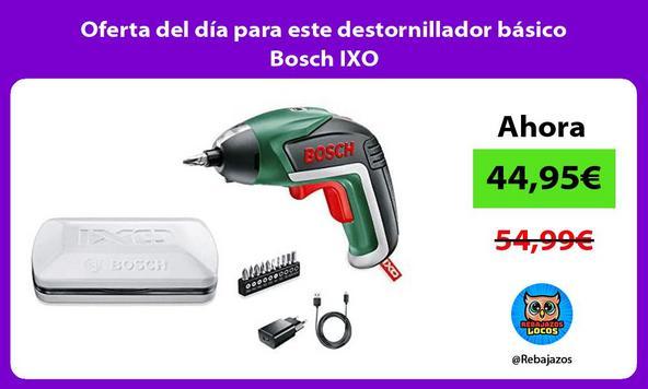 Oferta del día para este destornillador básico Bosch IXO