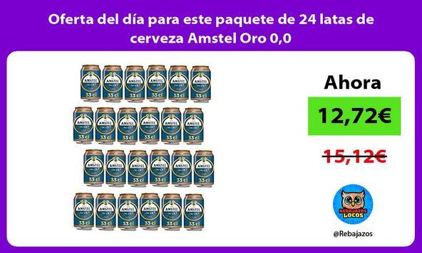 Oferta del día para este paquete de 24 latas de cerveza Amstel Oro 0,0