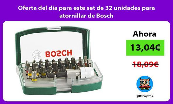 Oferta del día para este set de 32 unidades para atornillar de Bosch