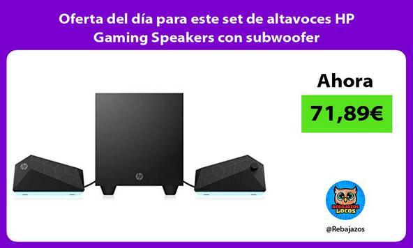 Oferta del día para este set de altavoces HP Gaming Speakers con subwoofer