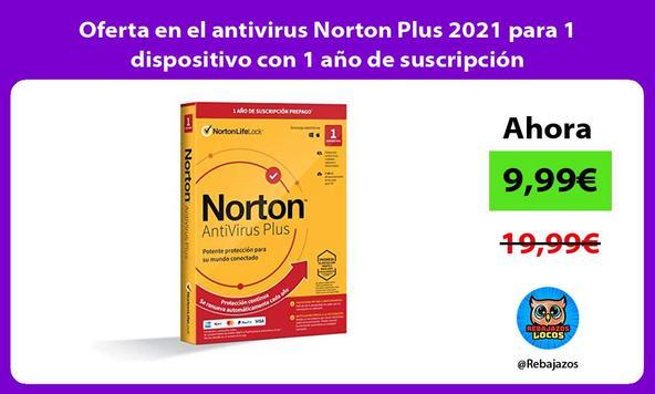 Oferta en el antivirus Norton Plus 2021 para 1 dispositivo con 1 año de suscripción