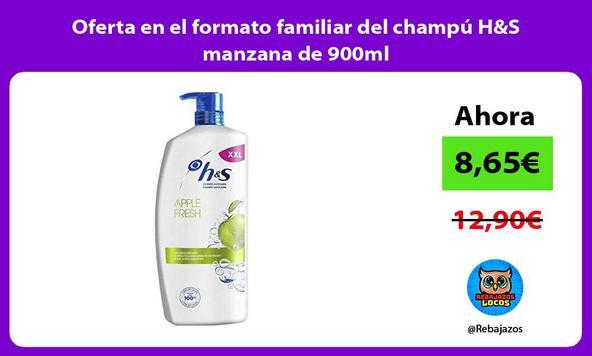 Oferta en el formato familiar del champú H&S manzana de 900ml