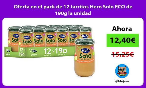 Oferta en el pack de 12 tarritos Hero Solo ECO de 190g la unidad