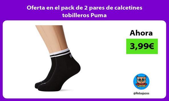 Oferta en el pack de 2 pares de calcetines tobilleros Puma