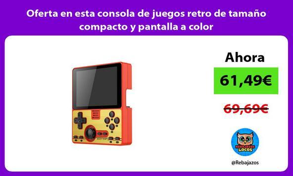 Oferta en esta consola de juegos retro de tamaño compacto y pantalla a color