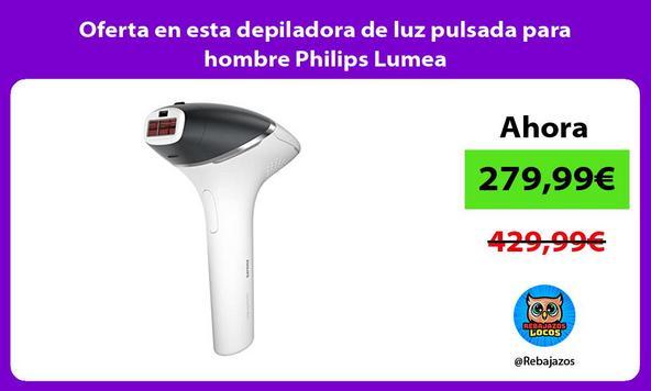 Oferta en esta depiladora de luz pulsada para hombre Philips Lumea