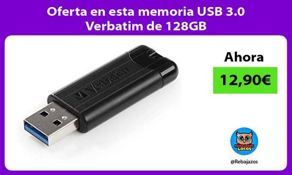 Oferta en esta memoria USB 3.0 Verbatim de 128GB