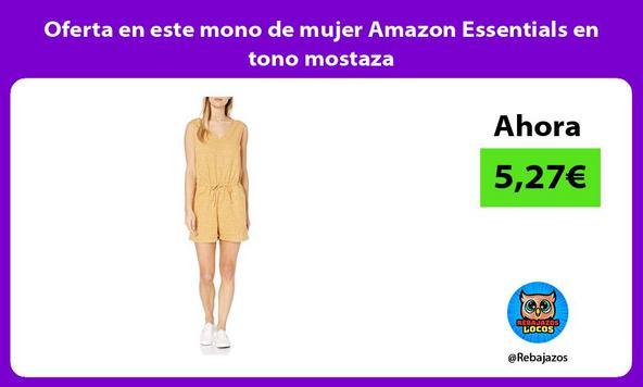 Oferta en este mono de mujer Amazon Essentials en tono mostaza