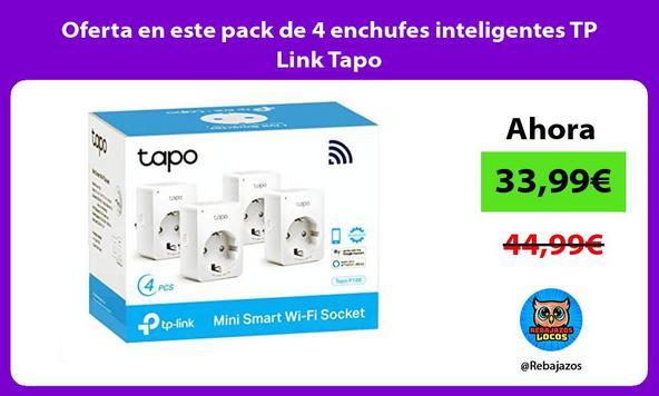 Oferta en este pack de 4 enchufes inteligentes TP Link Tapo