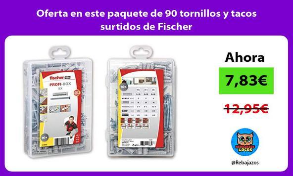Oferta en este paquete de 90 tornillos y tacos surtidos de Fischer