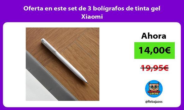 Oferta en este set de 3 bolígrafos de tinta gel Xiaomi