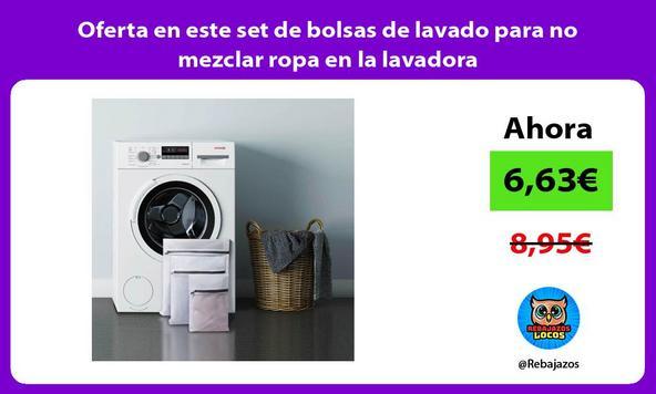 Oferta en este set de bolsas de lavado para no mezclar ropa en la lavadora