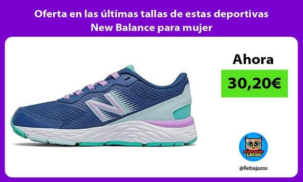 Oferta en las últimas tallas de estas deportivas New Balance para mujer