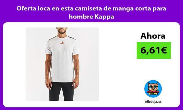 Oferta loca en esta camiseta de manga corta para hombre Kappa