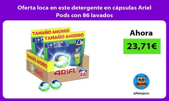 Oferta loca en este detergente en cápsulas Ariel Pods con 86 lavados