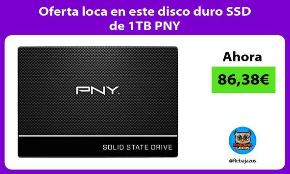 Oferta loca en este disco duro SSD de 1TB PNY