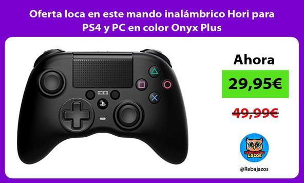 Oferta loca en este mando inalámbrico Hori para PS4 y PC en color Onyx Plus
