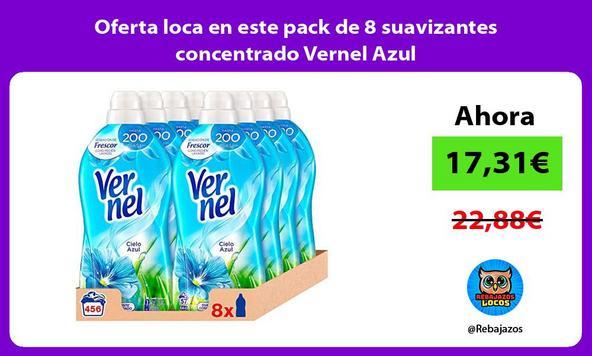 Oferta loca en este pack de 8 suavizantes concentrado Vernel Azul