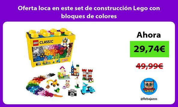 Oferta loca en este set de construcción Lego con bloques de colores