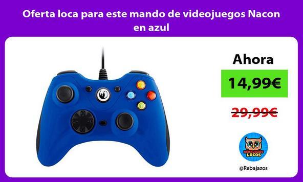 Oferta loca para este mando de videojuegos Nacon en azul
