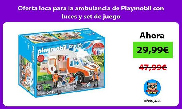 Oferta loca para la ambulancia de Playmobil con luces y set de juego