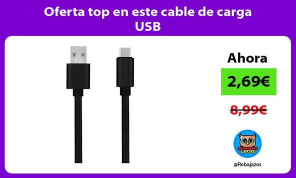 Oferta top en este cable de carga USB