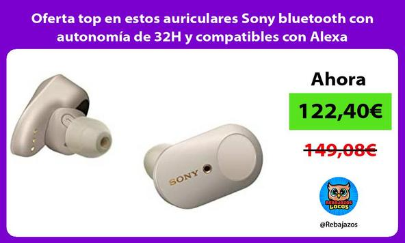 Oferta top en estos auriculares Sony bluetooth con autonomía de 32H y compatibles con Alexa