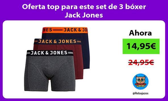 Oferta top para este set de 3 bóxer Jack Jones
