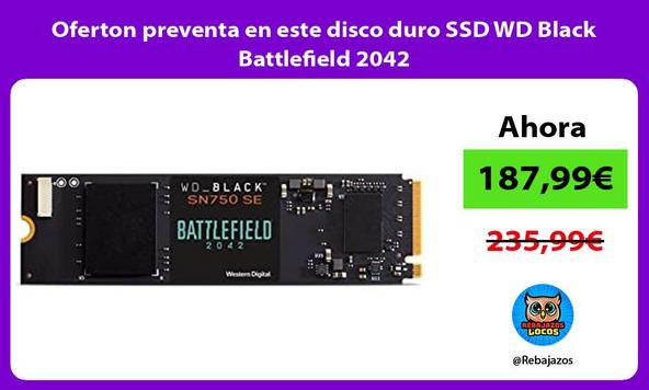 Oferton preventa en este disco duro SSD WD Black Battlefield 2042