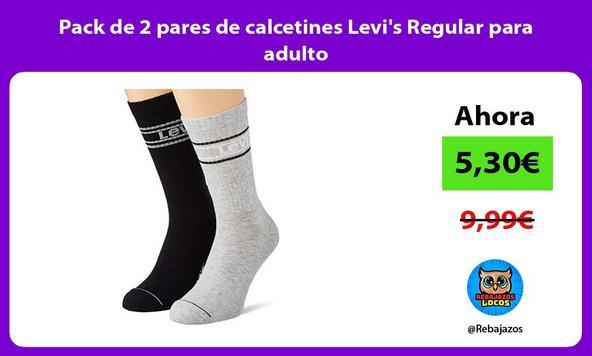 Pack de 2 pares de calcetines Levi's Regular para adulto