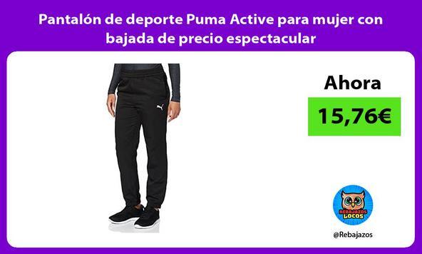 Pantalón de deporte Puma Active para mujer con bajada de precio espectacular