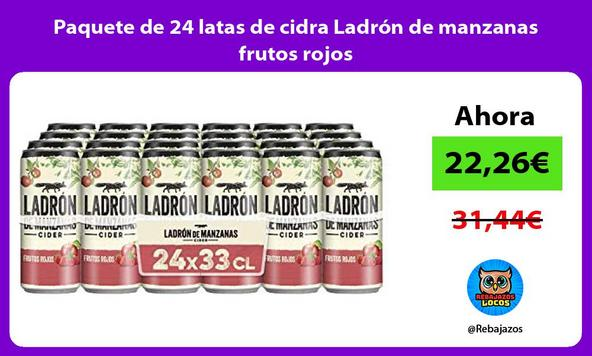 Paquete de 24 latas de cidra Ladrón de manzanas frutos rojos