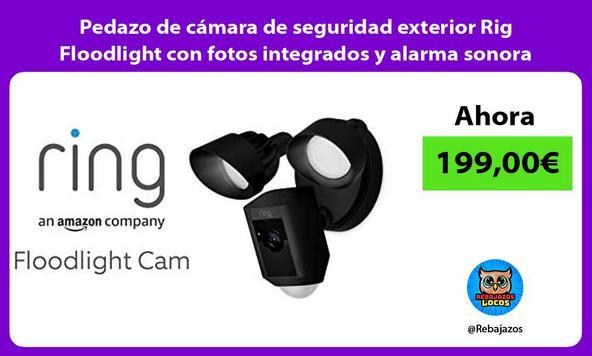 Pedazo de cámara de seguridad exterior Rig Floodlight con fotos integrados y alarma sonora