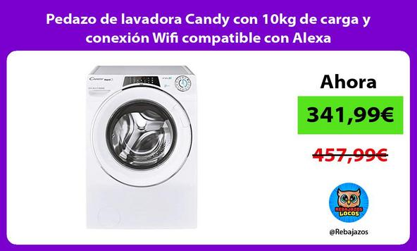 Pedazo de lavadora Candy con 10kg de carga y conexión Wifi compatible con Alexa