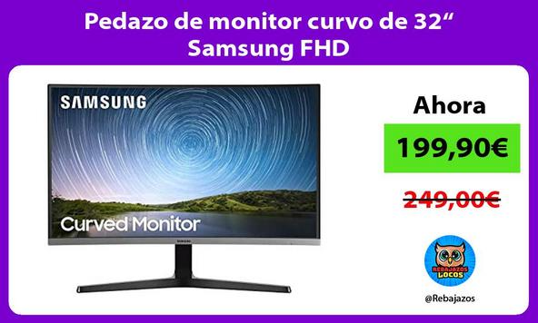 "Pedazo de monitor curvo de 32"" Samsung FHD"