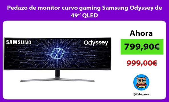 "Pedazo de monitor curvo gaming Samsung Odyssey de 49"" QLED"