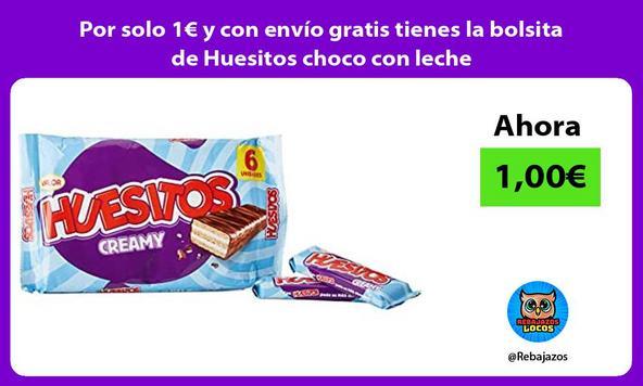 Por solo 1€ y con envío gratis tienes la bolsita de Huesitos choco con leche