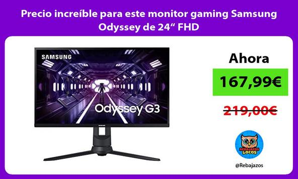 """Precio increíble para este monitor gaming Samsung Odyssey de 24"""" FHD"""