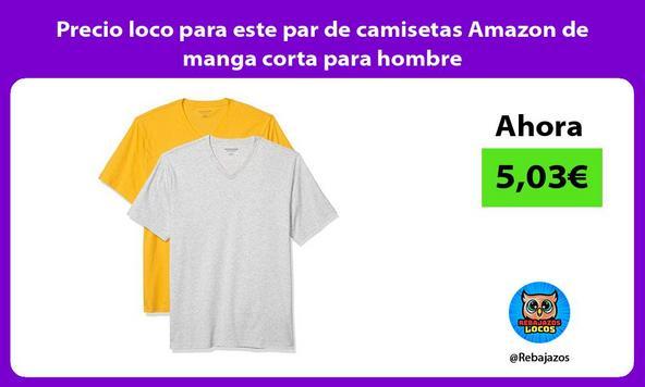 Precio loco para este par de camisetas Amazon de manga corta para hombre