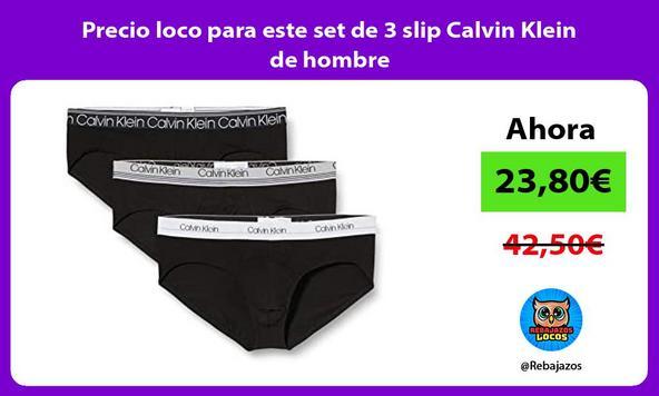 Precio loco para este set de 3 slip Calvin Klein de hombre
