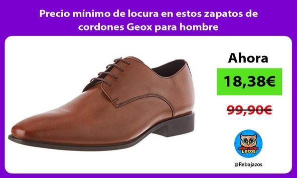 Precio mínimo de locura en estos zapatos de cordones Geox para hombre