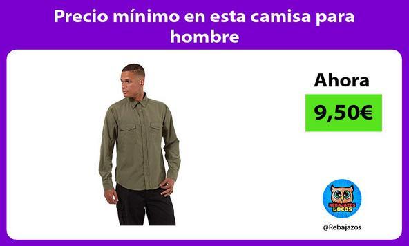 Precio mínimo en esta camisa para hombre